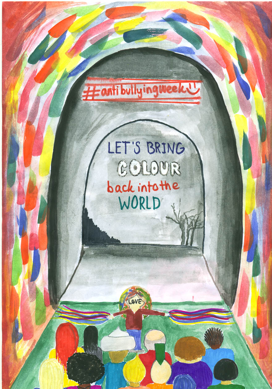 let s bring colour back into the world anti bullying week poster by salwa from woodgreen school download salwa s poster