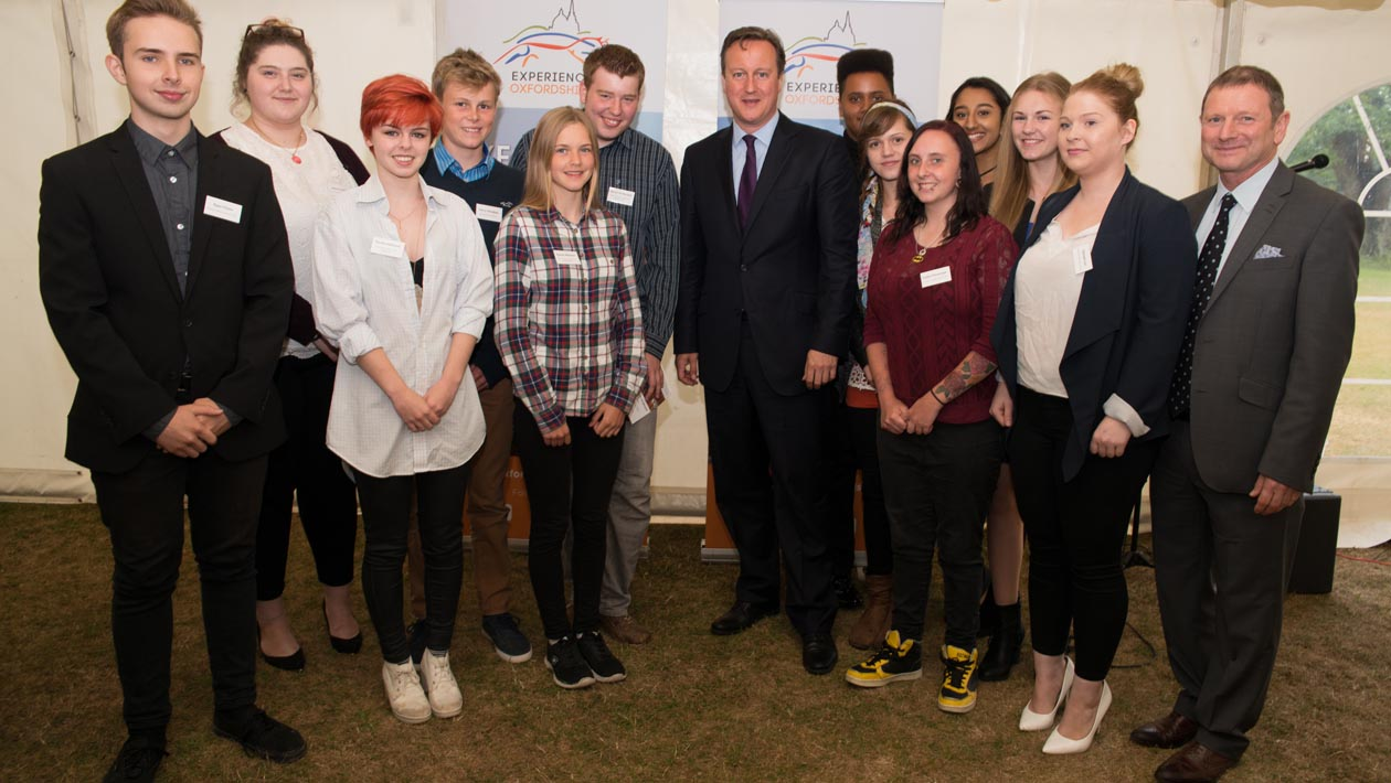 David Cameron meets Oxfordshire Young People