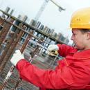 Young man working on a building site
