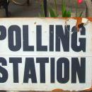 Polling Station sign outside an Oxford Polling Station